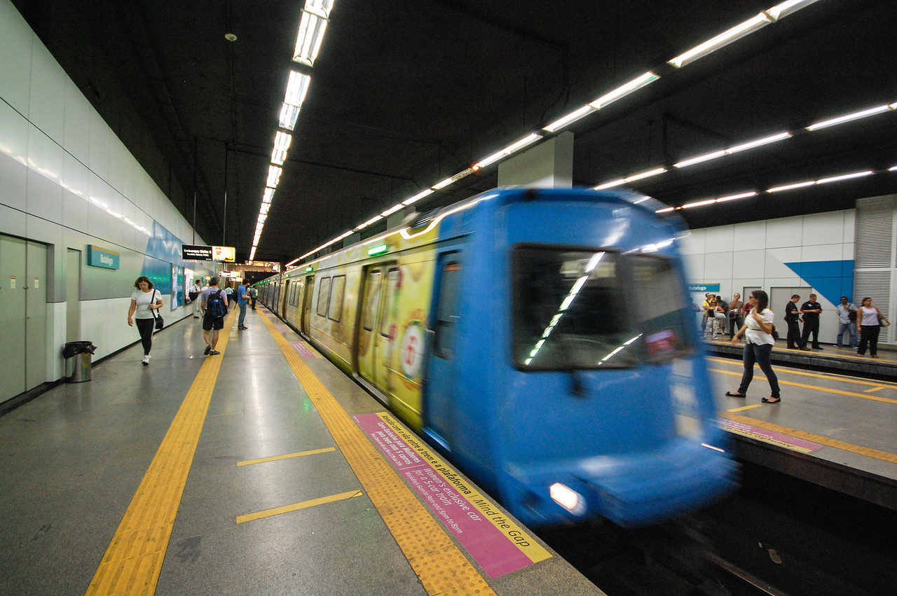 DSC_0011<br /> The Rio subway was clean and modern, a great way to get around.
