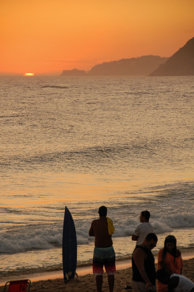 DSC_0336<br /> Ipanema at sunset.