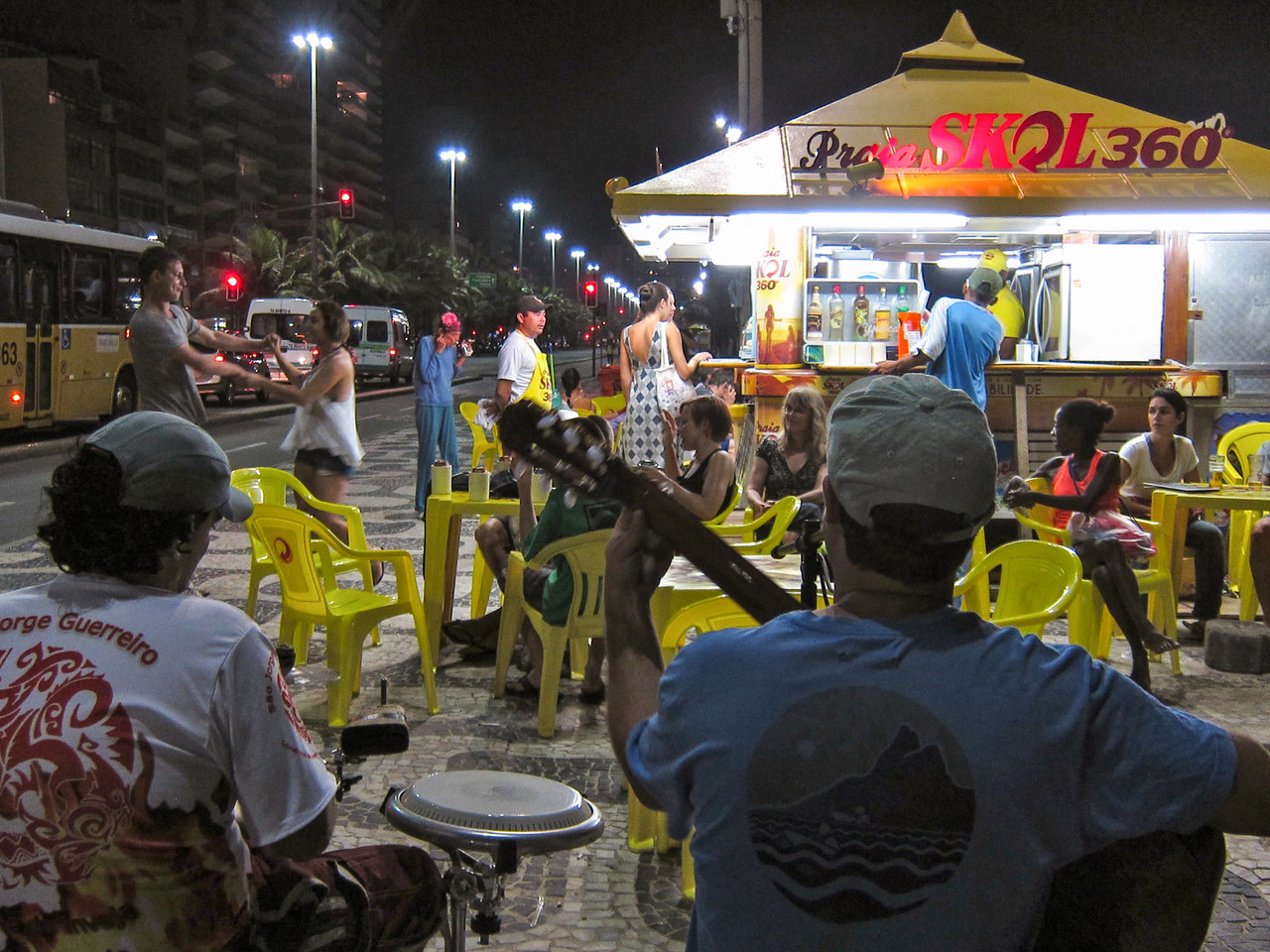 IMG_0029<br /> Beach restaurant, Ipanema with music and dancing.