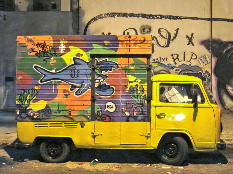 IMG_0063<br /> Vendor's colorful van.