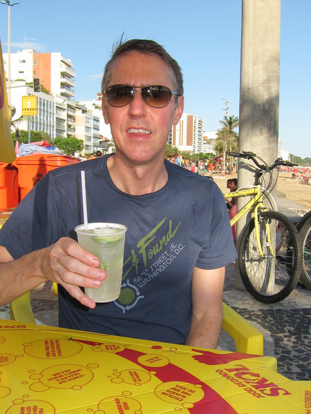 IMG_0041<br /> Tom enjoyning a caipirinha from a typical beach restaurant.  We have arrived!