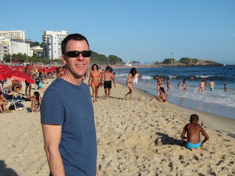 IMG_0034<br /> Just arrived and checking out Ipanema Beach.