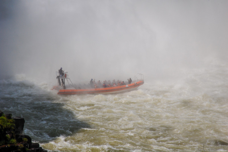 A jetboat in the falls.  You get dreched!