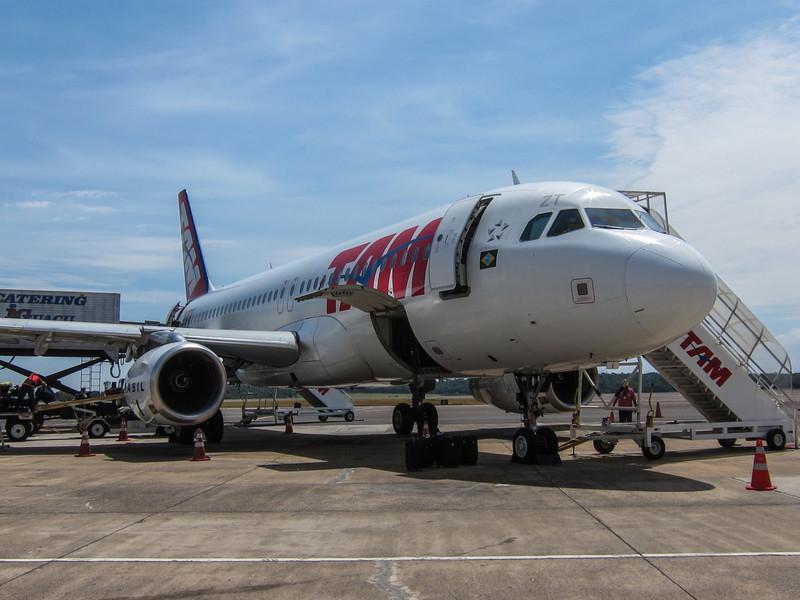 My ride from Rio to Iguazu, TAM A320.