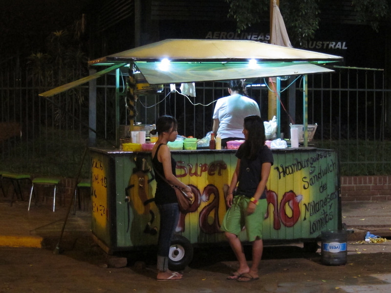 Snack cart in Puerto Iguazu, Argentina.  Nightlife!