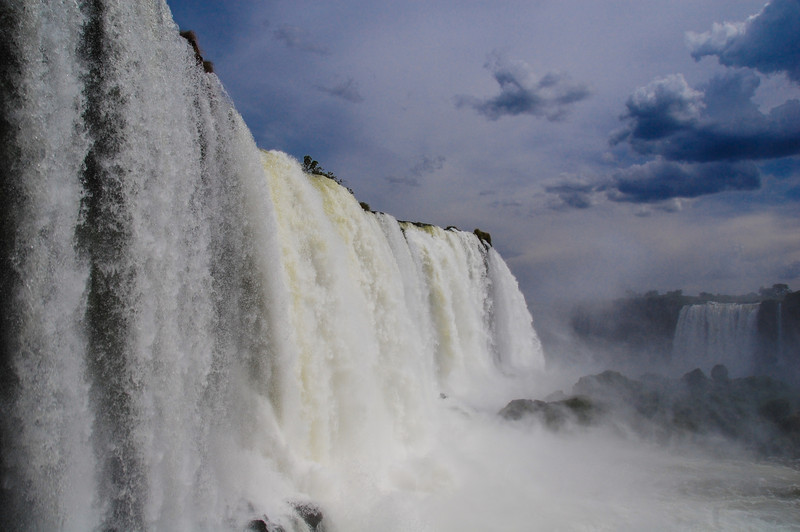 Right at the base of the falls, you can put your hand out and touch them.