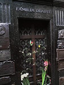 Eva Peron's grave located in the Recoleta Cemetary in Buenos Aires