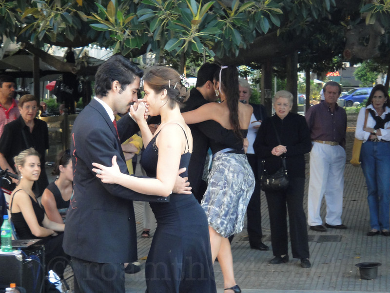 Tango Dancers at Plaza Intendente