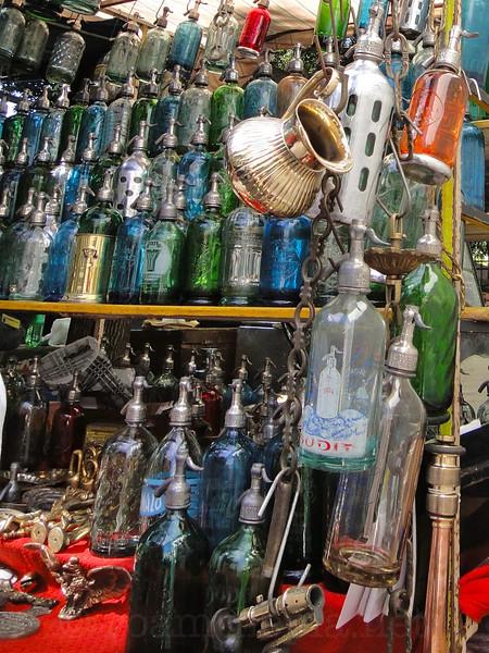 Agua Con Gas Bottles at San Telmo Street Market