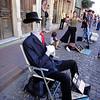 Invisible Man at San Telmo Street Market