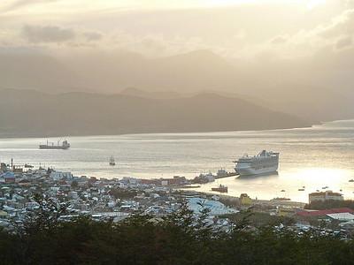 Star Princess at dock in Ushuaia