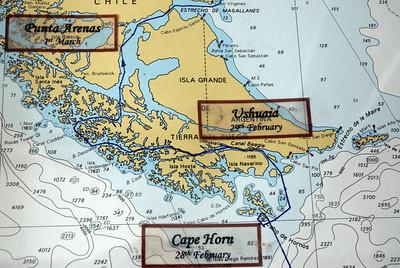 Ports of call in Tierra del Fuego
