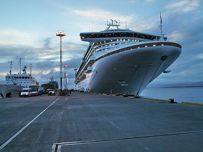 Star Princess docked at Ushuaia, Argentina in Terra del Fuego
