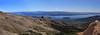 Panorama from Cerro Catedral (Cathedral Mountain) ski area to Beautiful Lago (Lake) Nahuel Huapi