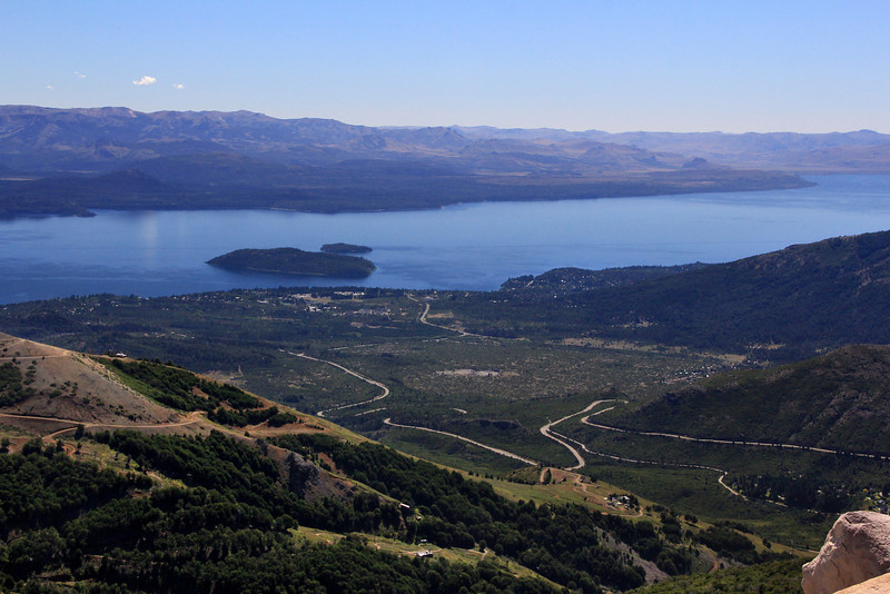 Lago Nahuel Huapi toward Bariloche from Cathedral Mountain