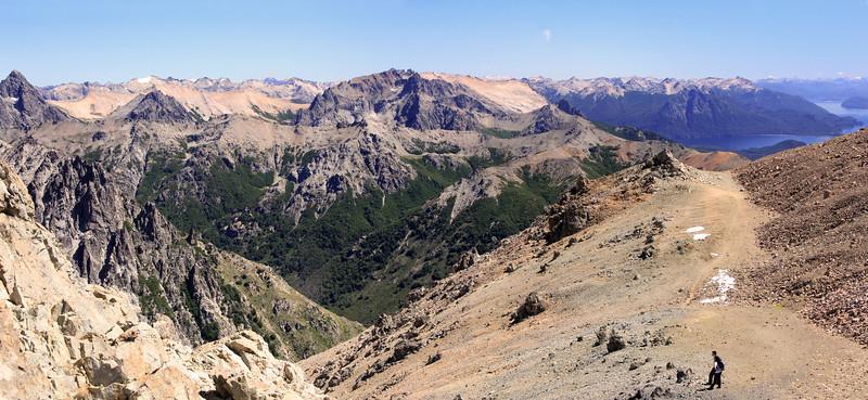 Catedral Ridge -Valley & Lake Nahuel Huapi Panorama