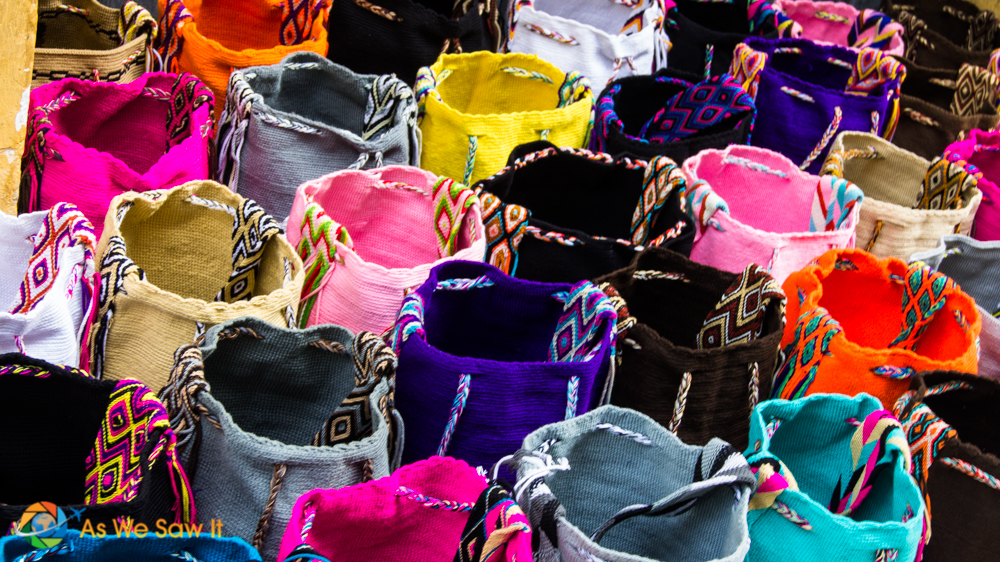 Just look at the color varieties of these bags in Cartagena