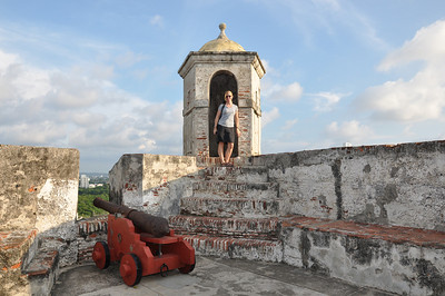 At the fort in Cartagena -  Castillo de San Felipe de Barajas