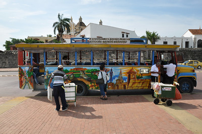 My tour bus around Cartagena