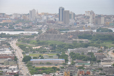 view of Cartagena from Convento de la Popa