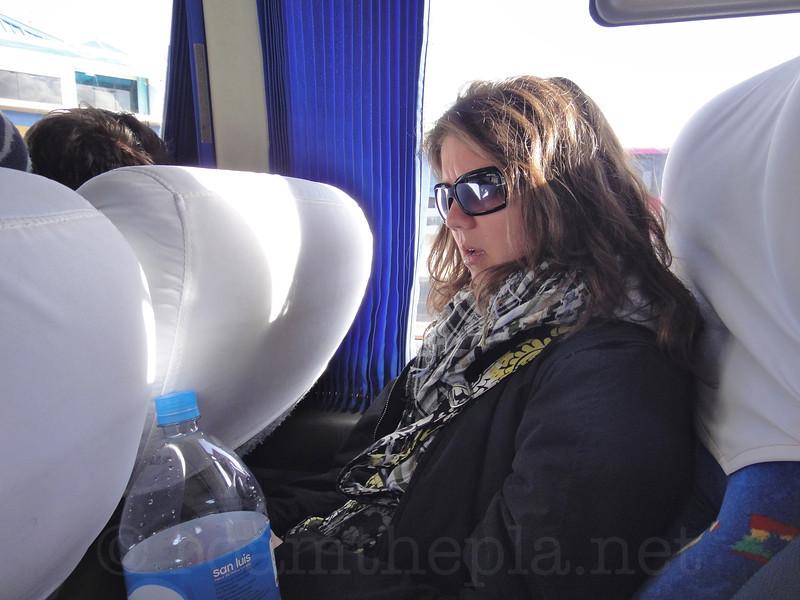 Bus to Copacabana, Bolivia
