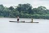 Women in a dugout canoe
