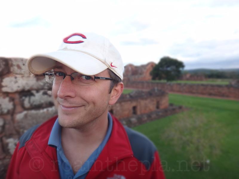 Looking Sneaky at Trinidad Jesuit Ruins
