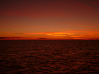 Sunset over the Falklands