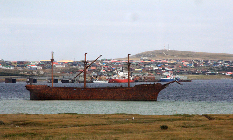 100 year-old Ship Wreck, Stanley Harbor, Falklands