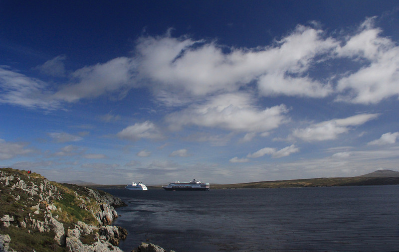 Outside Stanley Harbor, Falklands