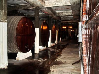 Wine kegs at Santa Rosa