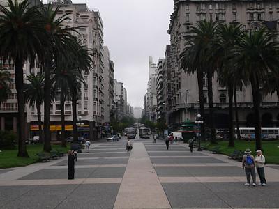 main street in Montevideo, Uruguay