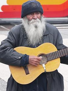 """He played and sang,""""Aye, aye, ya ya."""" for $1"""
