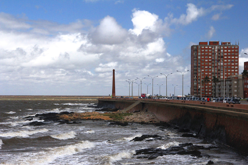 Seawall on the (Rio Plata) River Plate