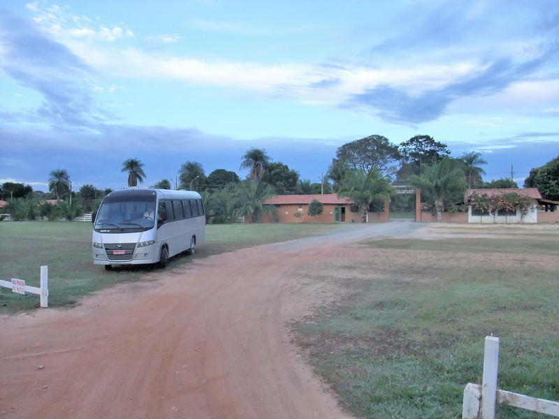 Porto Jofre Hotel and our bus