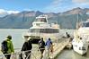 Boarding the boat for a closer look at  Perito Moreno Glacier