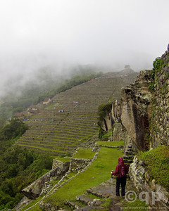 MACHU PICCHU AND RAIN PONCHO RAINBOW