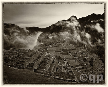 OLD TIME MACHU PICCHU BLACK AND WHITE