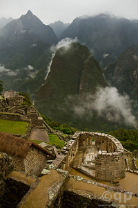 MACHU PICCHU SUN TEMPLE AND MOUNTAIN