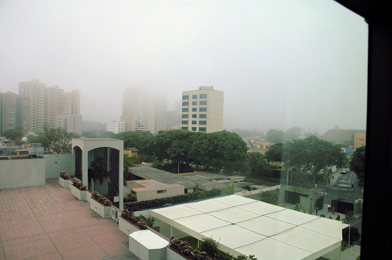 Hazy view from our room at the Swissotel Lima