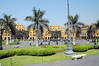 The Plaza Mayor or Plaza de Armas of Lima, is the birthplace  of the city of Lima, as well as the core of the city. Located in the Historic Centre of Lima, it is surrounded by the Government Palace, Cathedral of Lima, Archbishop's Palace of Lima, the Municipal Palace, and the Palace of the Union