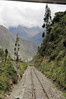 The track on the way to Machu Picchu