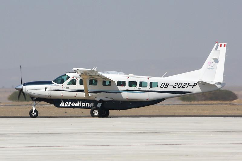 "OB-2021-P Cessna 208B Caravan ""Aerodiana"" c/n 208B-2387 Pisco/SPSO/PIO 04-05-16"