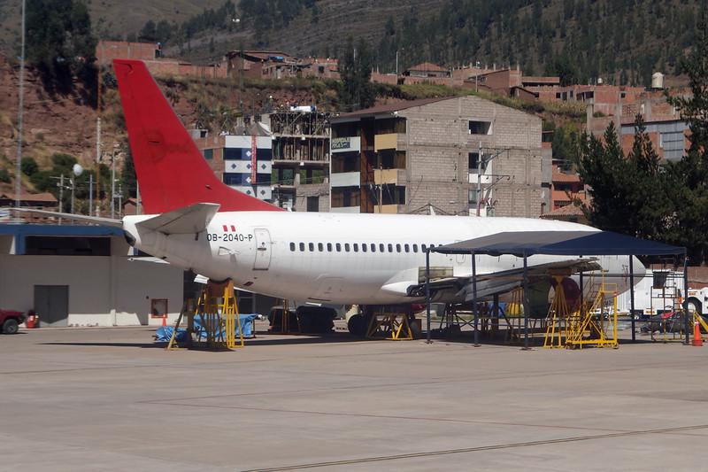 """OB-2040-P Boeing 737-3K2 """"Peruvian Airlines"""" c/n 24329 Cuzco/SPZO/CUZ 03-05-16"""