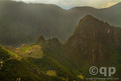 MACHU PICCHU FROM THE SUN GATE, INCA TRAIL