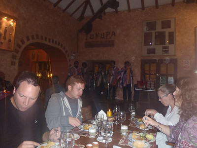Welcome dinner at Tunupa Restaurant, Plaza de Armas, Cusco