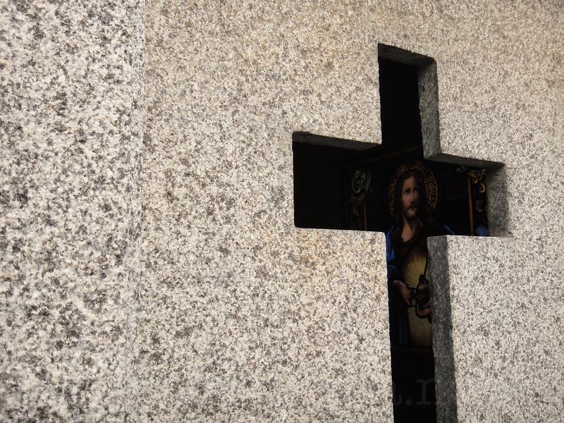 Jesus Behind the Cross at Recoleta Cemetery
