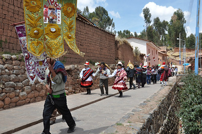 A parade in the town of Chinchero.