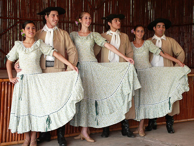 These gauchos and chinas performed traditional Argentina folk dances.