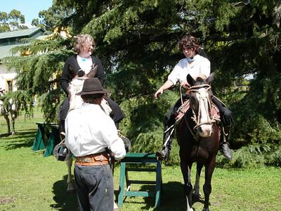 Wife's horseback ride